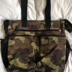 SkipHop Fatigue green camo Diaper Stroller bag $55